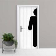 Adesivo de Porta Banheiro Masculino 2