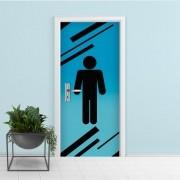Adesivo de Porta Banheiro Menino 2
