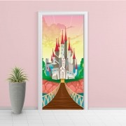 Adesivo de Porta Castelo Encantado 4