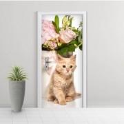 Adesivo de Porta Gato 3