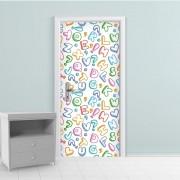 Adesivo de Porta Letras Colorido 2