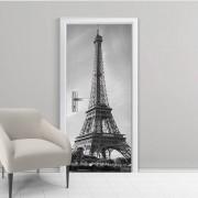 Adesivo de Porta Torre Eiffel Preto e Branco