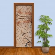 Adesivo de Porta Tronco de Árvore