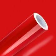Adesivo Para Envelopamento Brilho Premium Vermelho Vivo