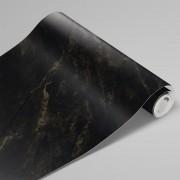 Adesivo Para Envelopamento Mármore Golden Black