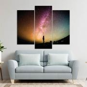 Kit 3 Placas Decorativas Mosaico - Constelação