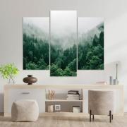 Kit 3 Placas Decorativas Mosaico - Floresta Nublada