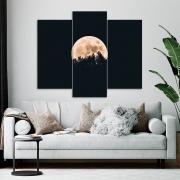 Kit 3 Placas Decorativas Mosaico - Lua