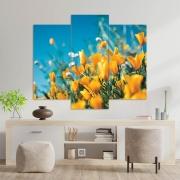 Kit 3 Placas Decorativas Mosaico - Tulipa Amarela