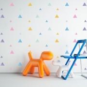 Kit de Adesivos Infantis Triângulos Aquarela