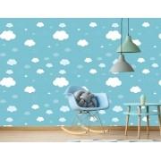 Papel de Parede Infantil - Céu Nuvens Azul