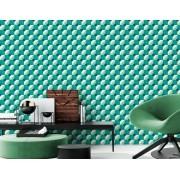 Papel de Parede 3D - Geométrico 3D Verde e Branco 1