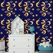 Papel de Parede Infantil - Lua, Sol e Estrelas 5