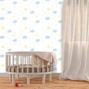 Papel de Parede Infantil - Lua, Sol e Estrelas 9