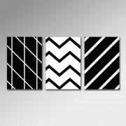Placa Decorativa - Formas Preto e Branco