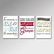 Placa Decorativa - Frases Cristãs