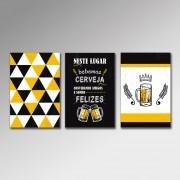 Placa Decorativa - Neste Lugar Bebemos Cerveja
