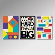 Placa Decorativa - Work Hard 2