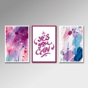 Placa Decorativa - Yes You Can