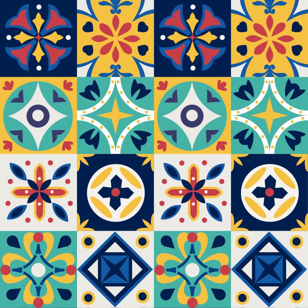 Adesivo de Azulejo Abstrato Animado