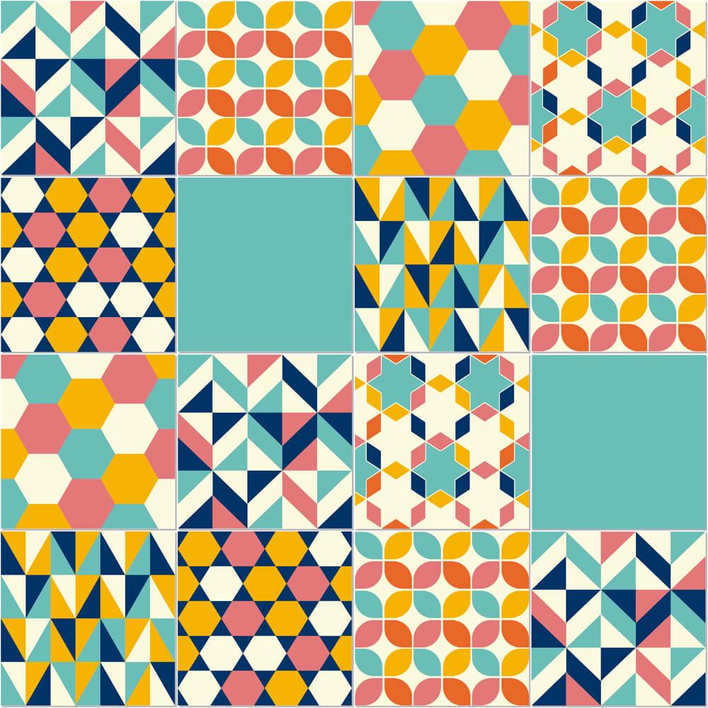 Adesivo de Azulejo Candy Colors