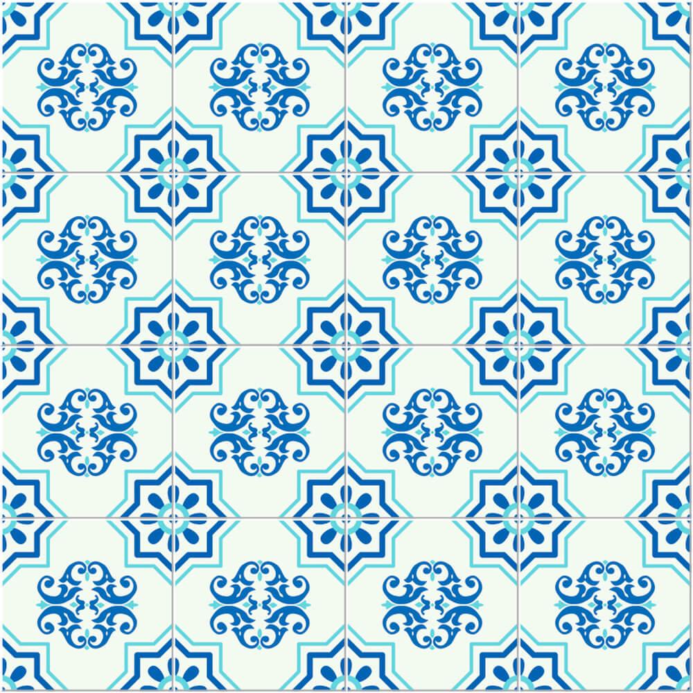 Adesivo de Azulejo Clássico Azul 2