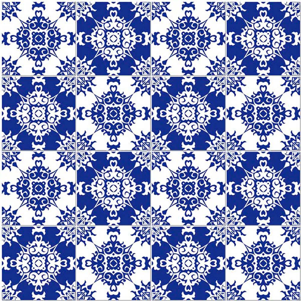 Adesivo de Azulejo Clássico Azul 3