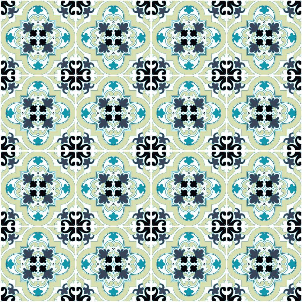 Adesivo de Azulejo Clássico Português 2