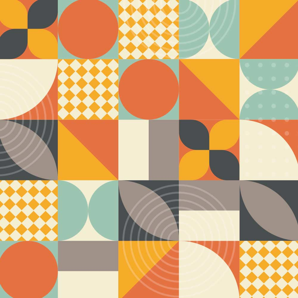 Adesivo de Azulejo Flat Shapes 2