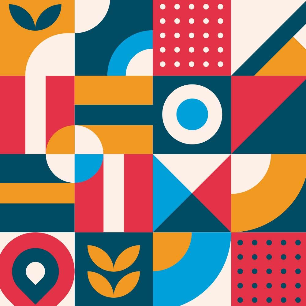 Adesivo de Azulejo Flat Shapes 3