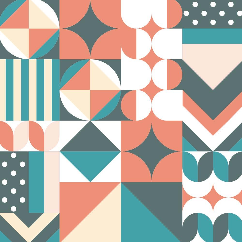 Adesivo de Azulejo Flat Shapes 4