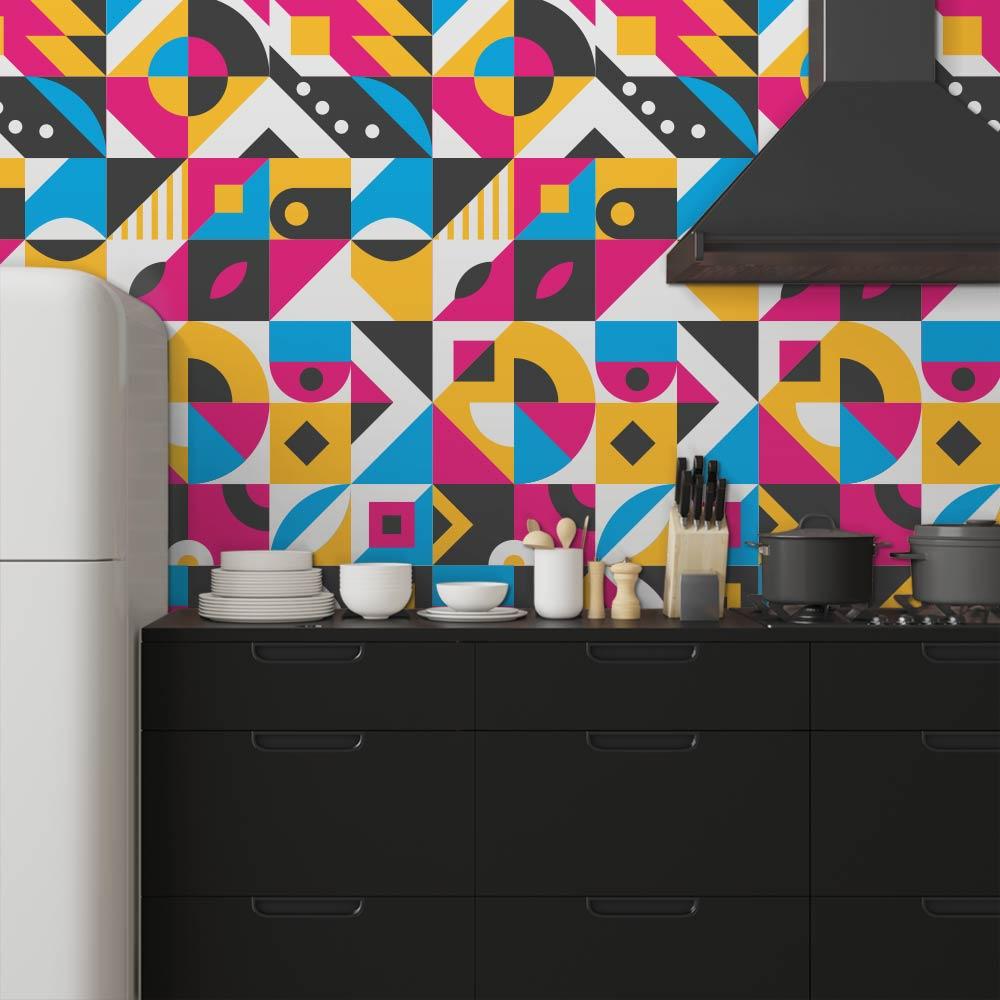 Adesivo de Azulejo Flat Shapes 5