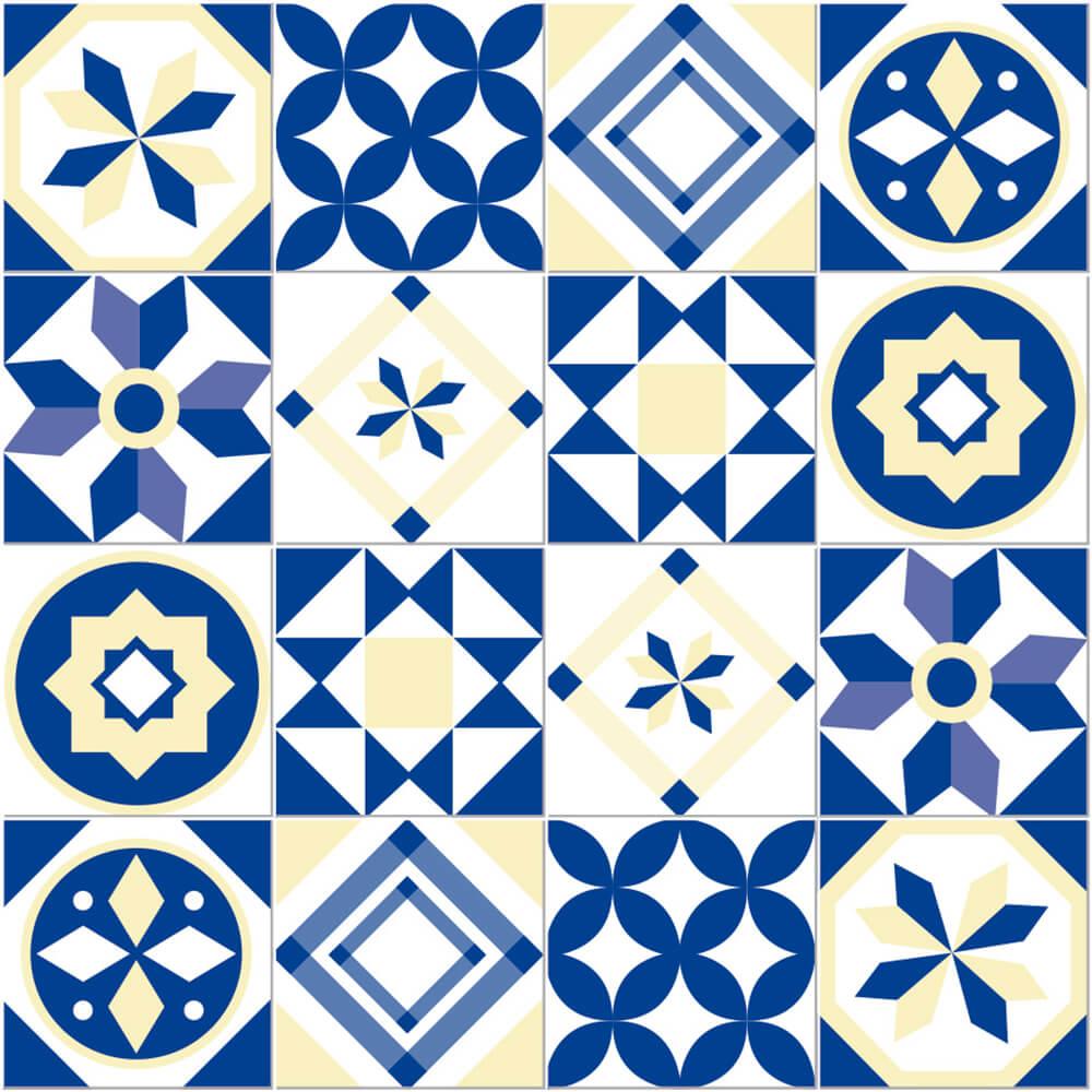 Adesivo de Azulejo Geométrico Azul 1