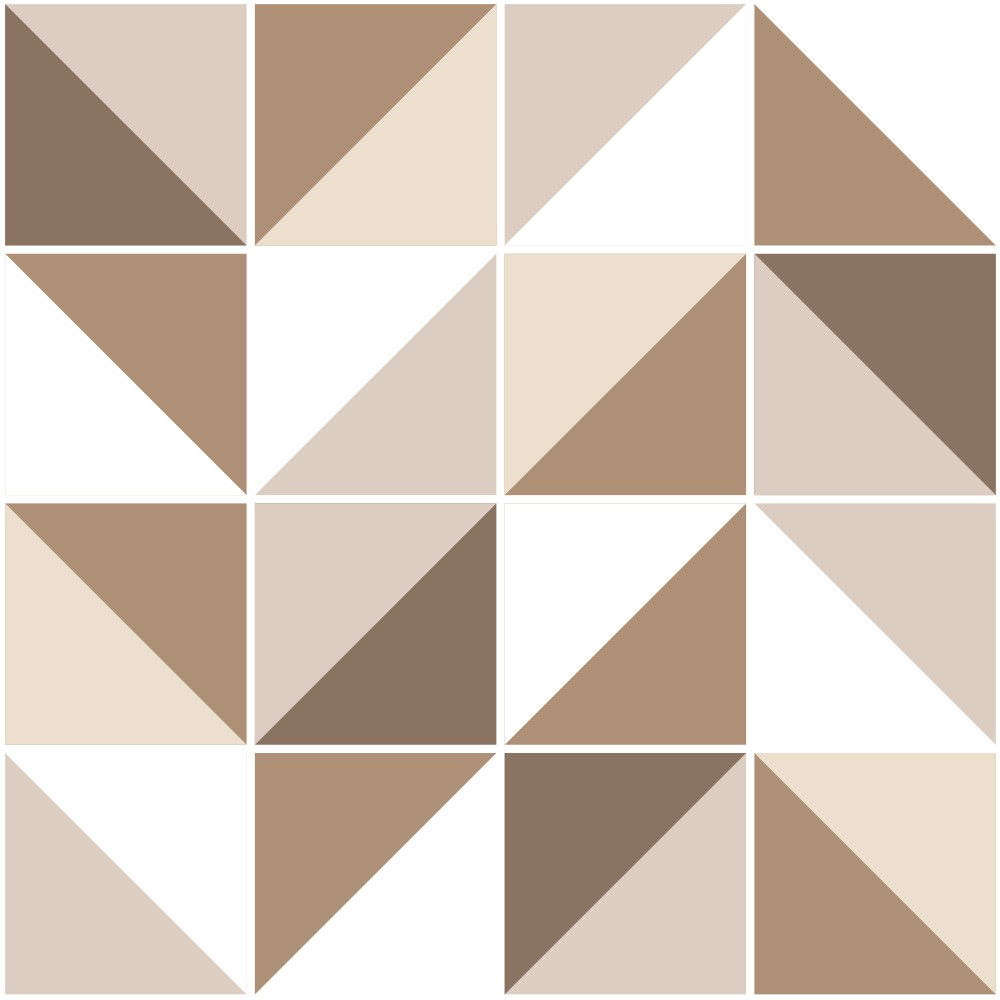 Adesivo de Azulejo Geométrico Café