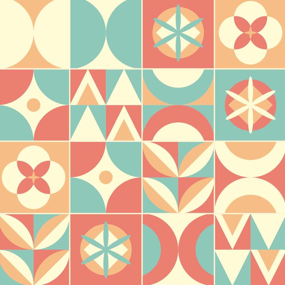 Adesivo de Azulejo Geométrico Sweet