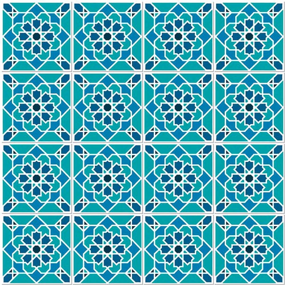 Adesivo de Azulejo Geométrico Verde