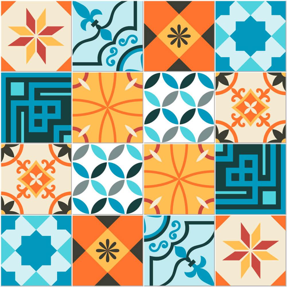 Adesivo de Azulejo Hidráulico Retrô 5