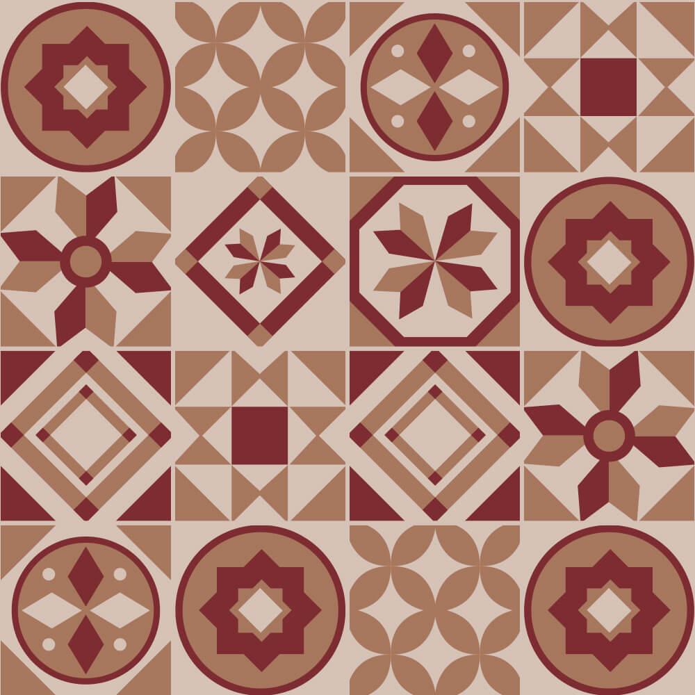 Adesivo de Azulejo Hidráulico Vintage 2