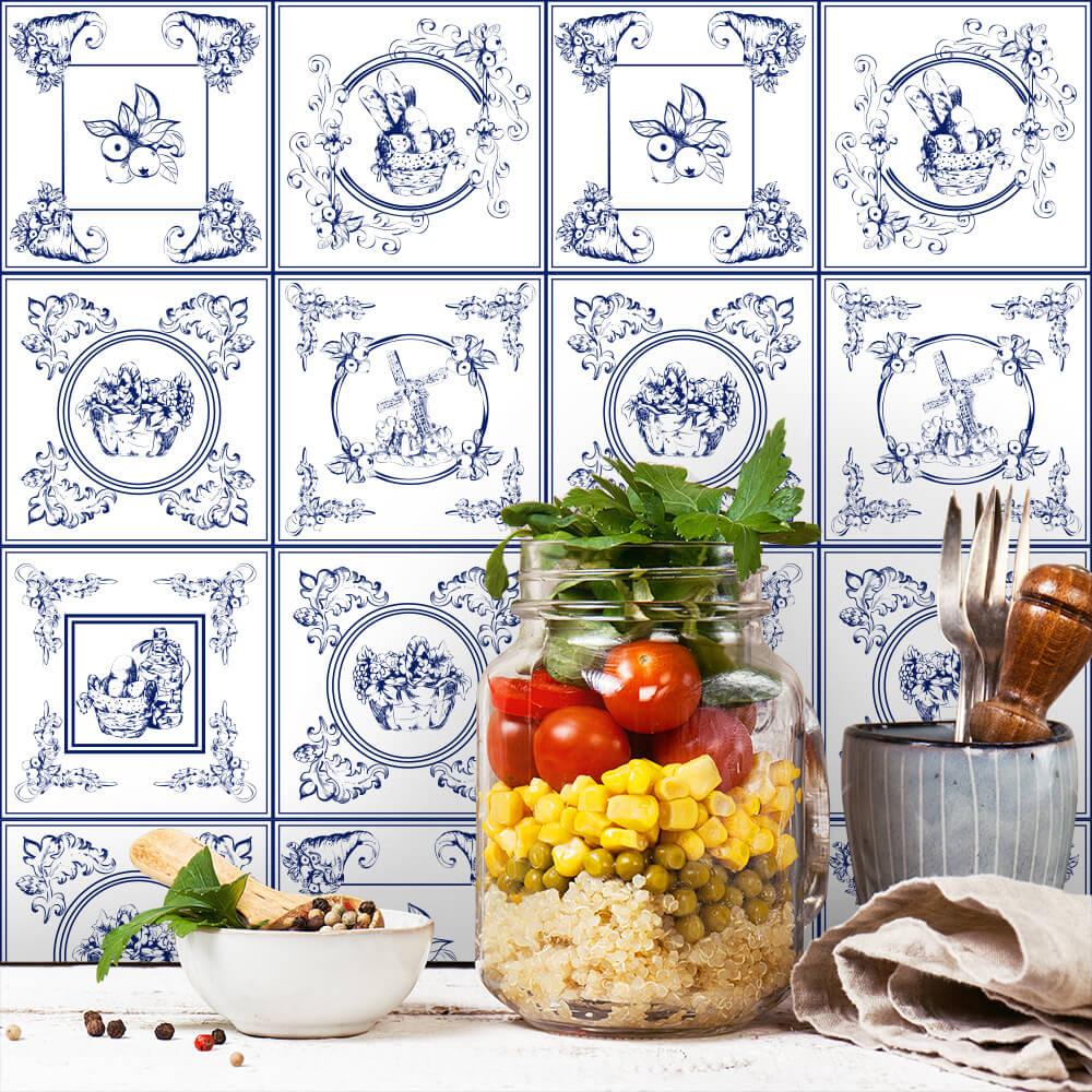 Adesivo de Azulejo Holandes