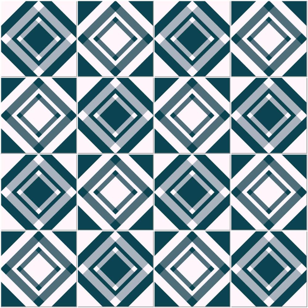 Adesivo de Azulejo Losângulos