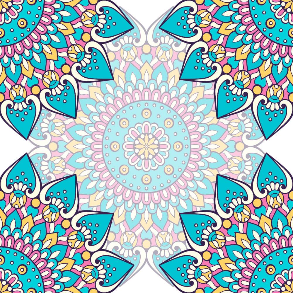 Adesivo de Azulejo New Mandala 5