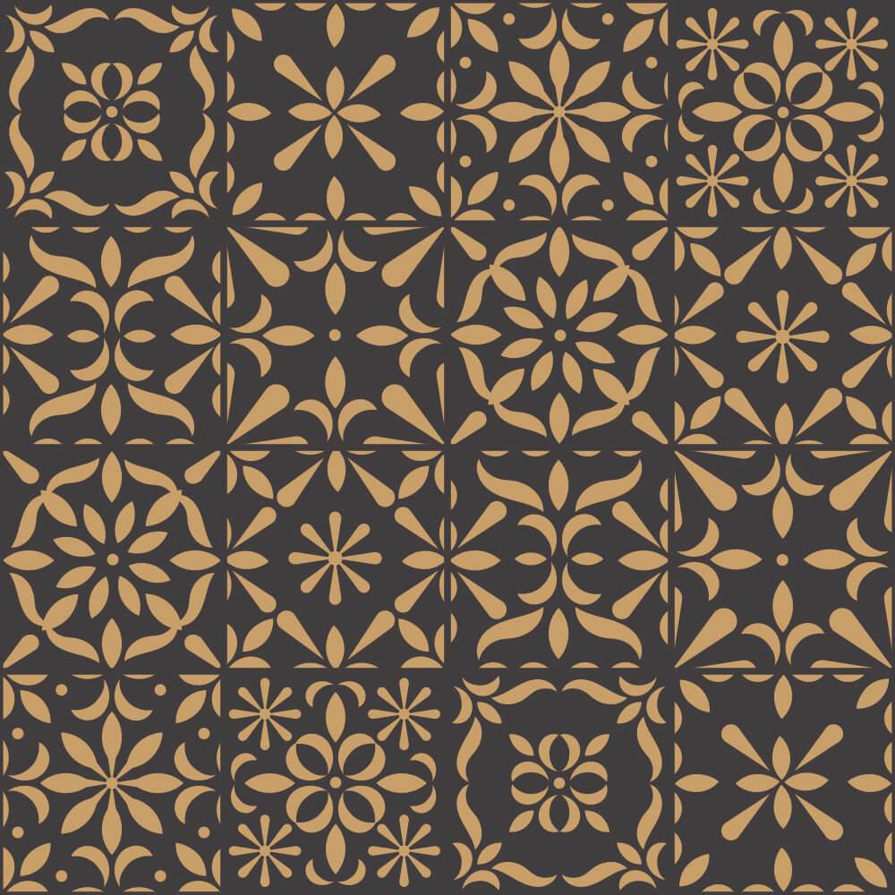 Adesivo de Azulejo Old Floral