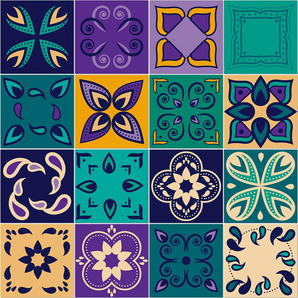 Adesivo de Azulejo Paleta Roxa 1