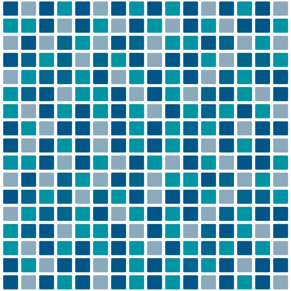 Adesivo de Azulejo Pastilhas Tons de Azul