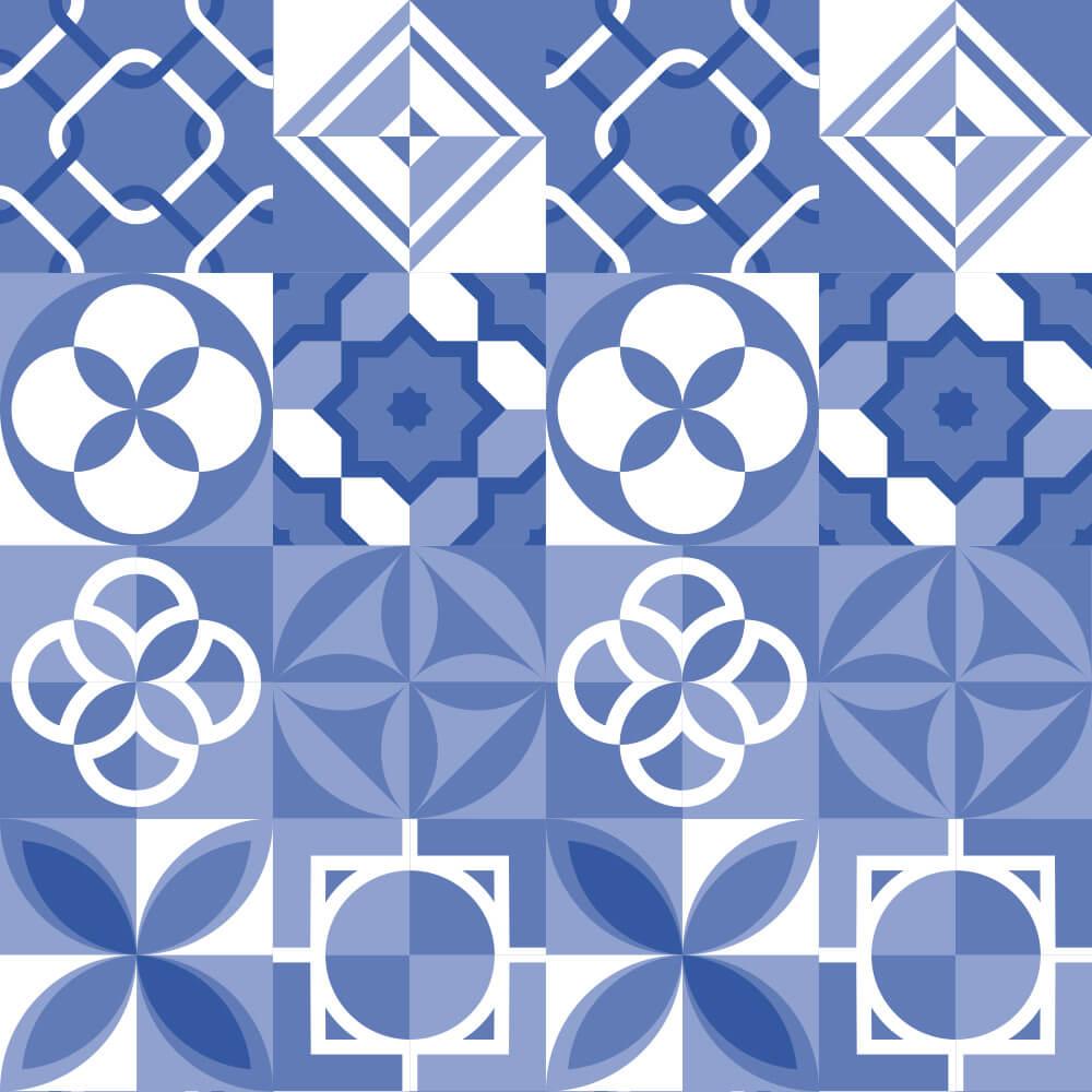 Adesivo de Azulejo Plano Azul 2