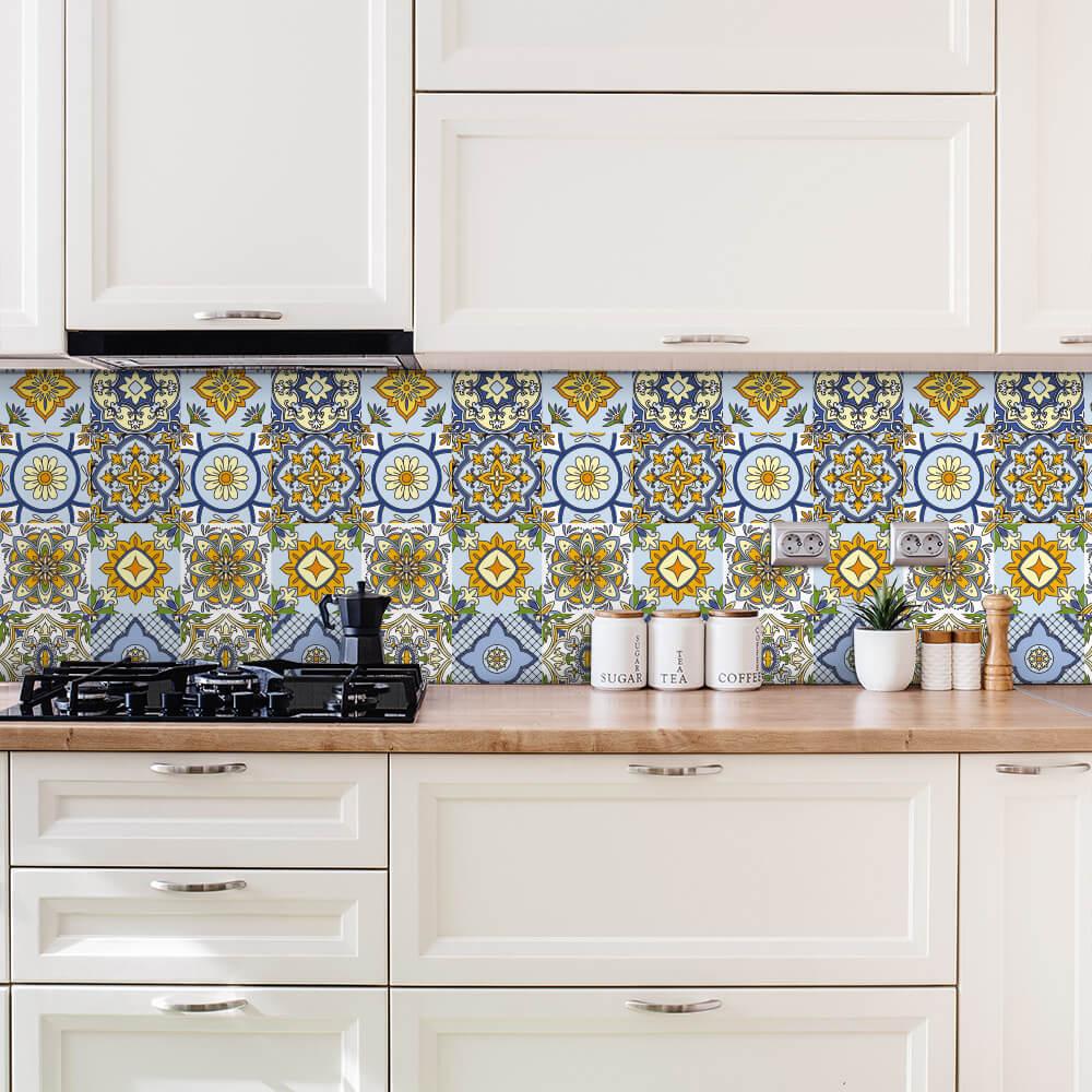 Adesivo de Azulejo Português Floral