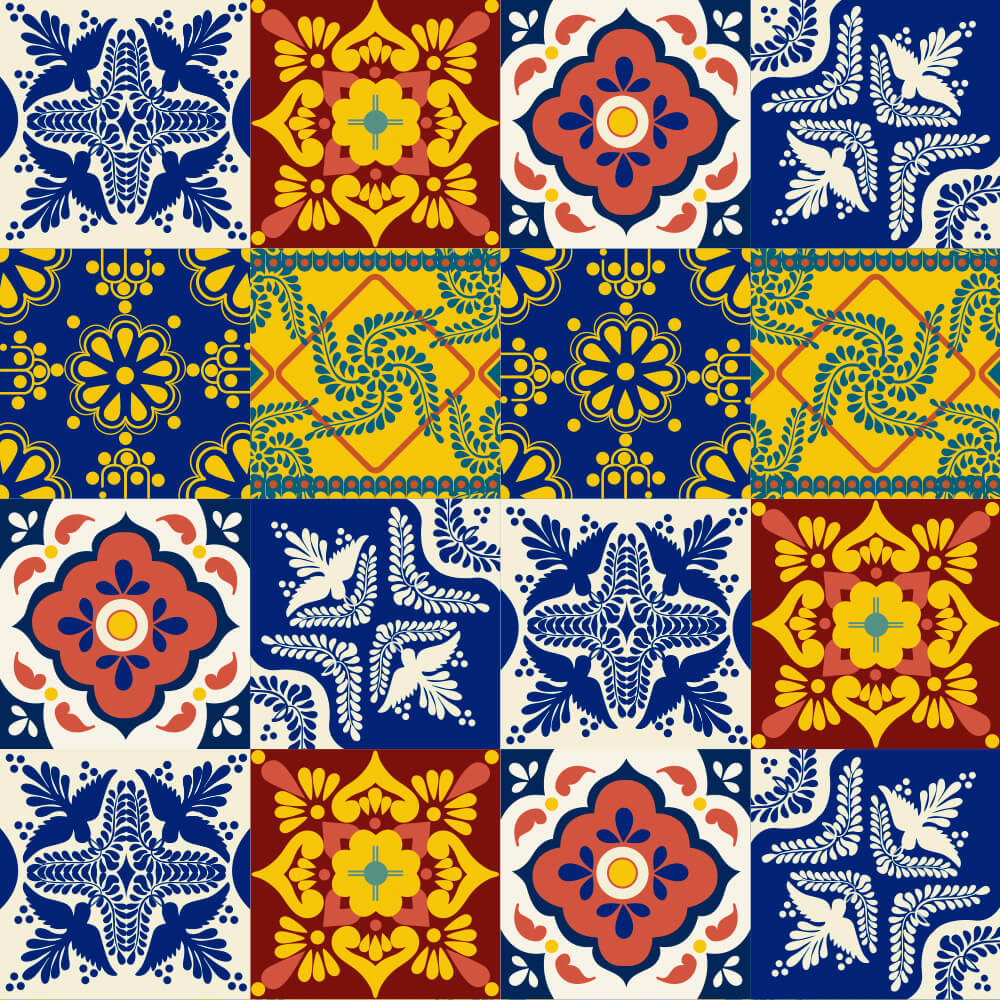 Adesivo de Azulejo Talavera 4