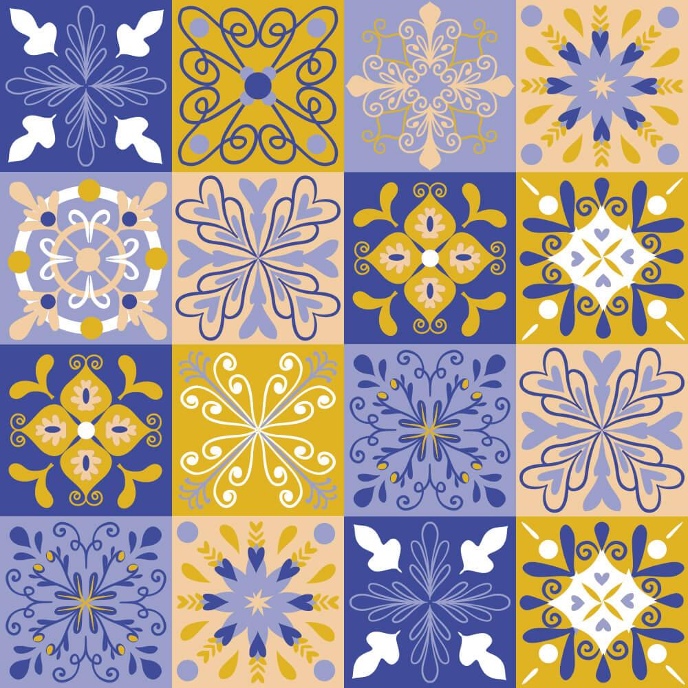 Adesivo de Azulejo Talavera 5