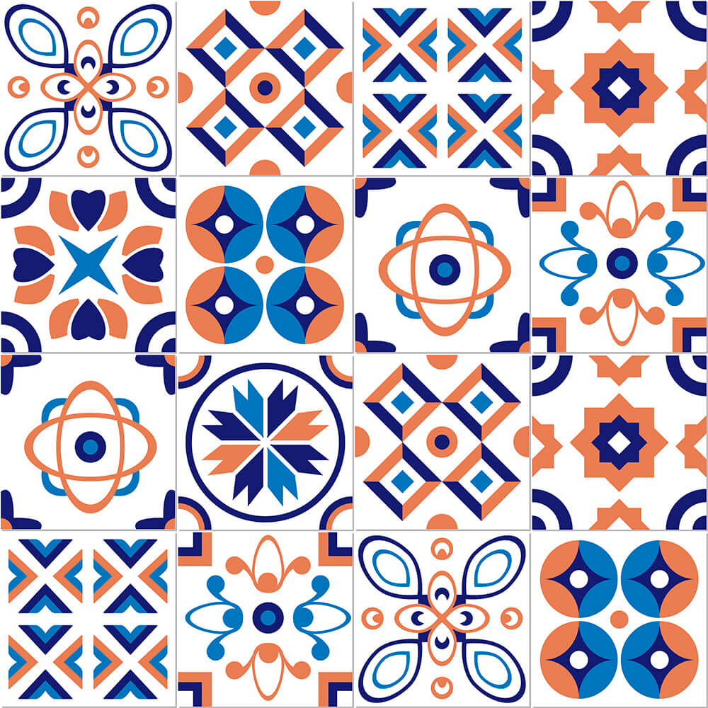 Adesivo de Azulejo Talha Abstrata