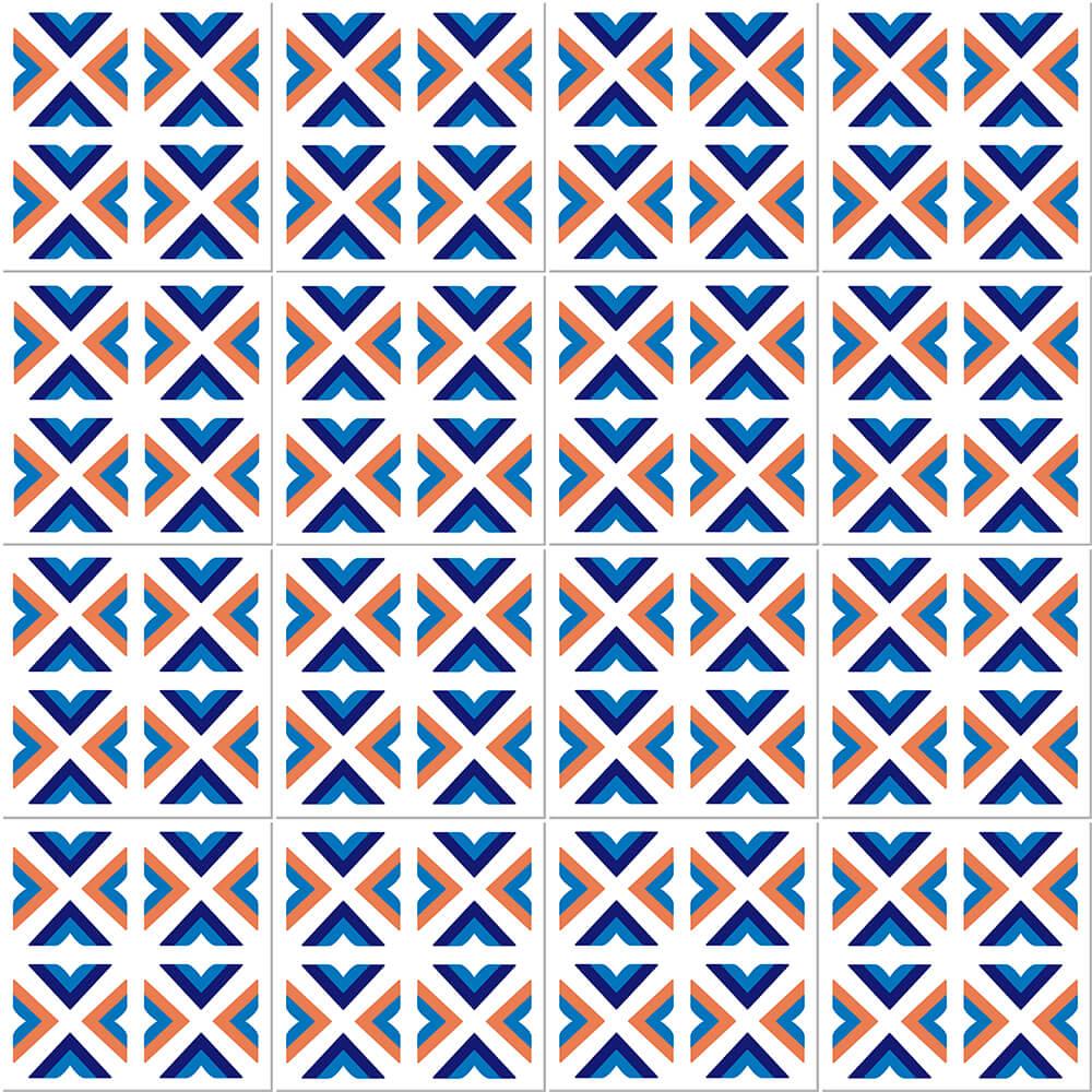 Adesivo de Azulejo Talha Geométrica